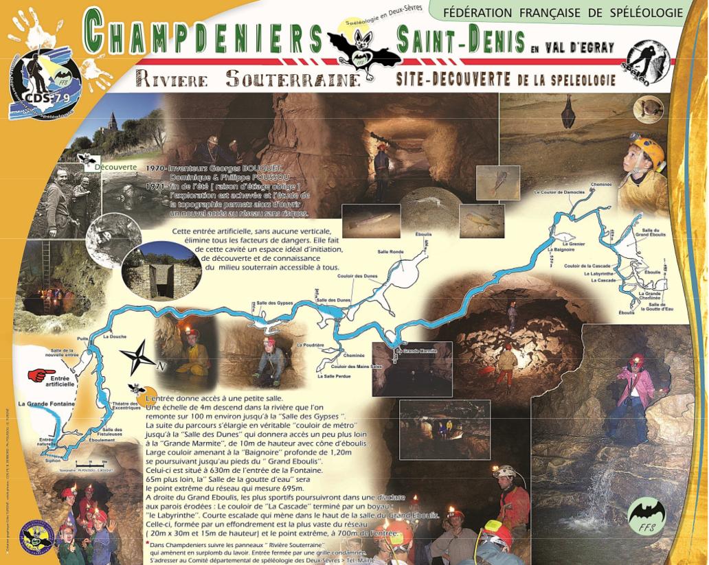Topo imagée riviere souterraine Champdeniers