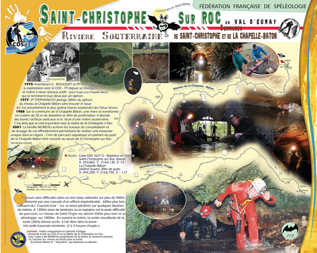 topo de la rivière souterraine de St-Christophe-sur-Roc