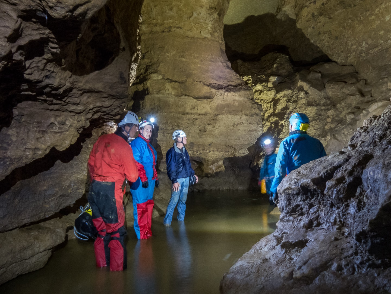Rivière souterraine de Champdeniers - La salle des Gypses