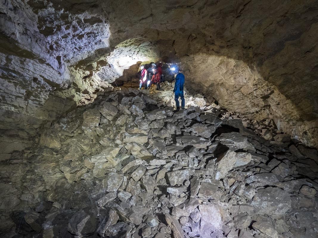 Rivière souterraine de Champdeniers - La salle du Grand Eboulis