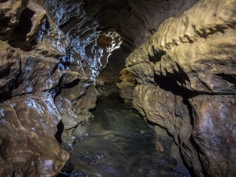 Rivière souterraine de Champdeniers - Le couloir de Damoclès
