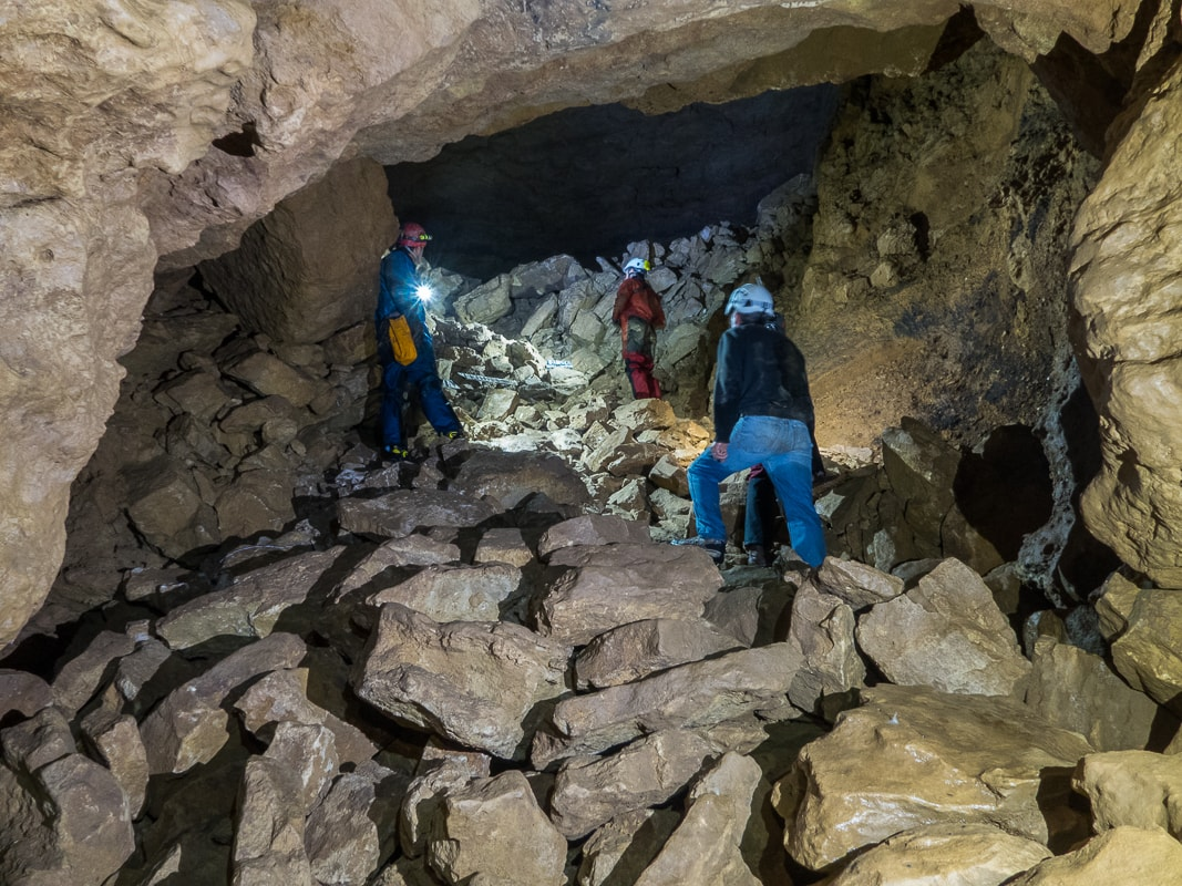 Rivière souterraine de Champdeniers - Montée vers la salle du Grand Eboulis